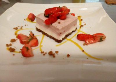 entremet choco fraises